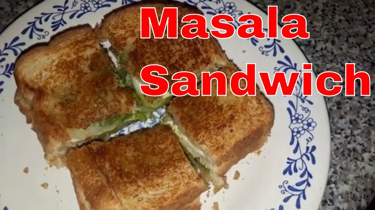 Quick Masala Cheese Sandwich