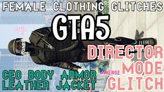 GTA5 | Female Director Mode + Male Merge Glitch: CEO Body Armor w/Leather Jackets & Puffer Jackets