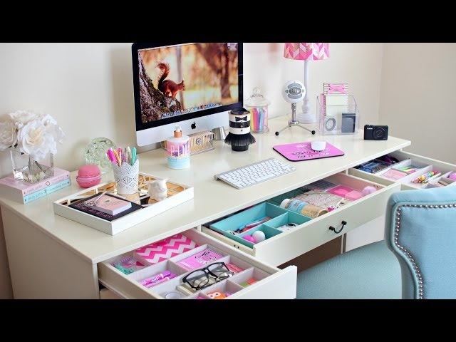 Desk Organization Ideas  How To Organize Your Desk  Pcook. Table Fountains. Sit Stand Adjustable Desk. Travel Trunk With Drawers. Oak File Cabinet 4 Drawer. Best Standing Desk Converter. Tool Box Drawer Liners. Desk And Tv Stand Combo. Jira Service Desk Email Handler