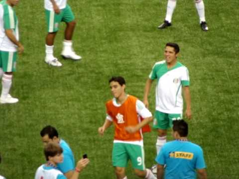 Mexico National Soccer Team Warming Up at the Gold Cup Video