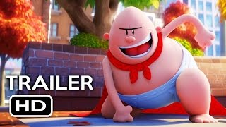 Captain Underpants: The First Epic Movie Trailer #1 (2017) Kevin Hart, Ed Helms Animated Movie HD