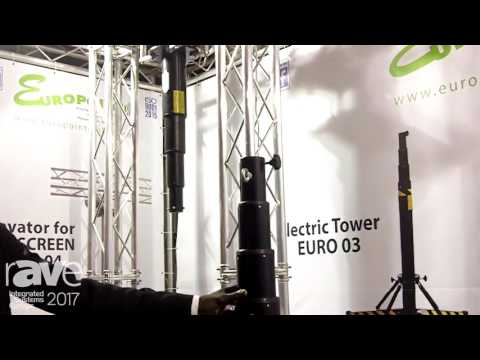ISE 2017: Europoint Shows EURO 03 Electric Tower and EURO 04 Elevator for LED Screen