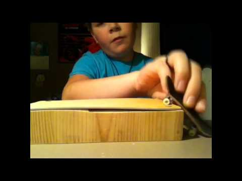 Review of my homemade fingerboard-ramps!