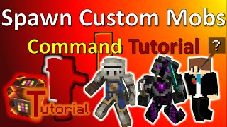 Spawn your own custom Mobs with one Command! | Command Tutuorial