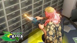 GTA V: BRASIL ROLEPLAY - NOVO ASSALTO ao BANCO FOGO e FUGA!!! #60