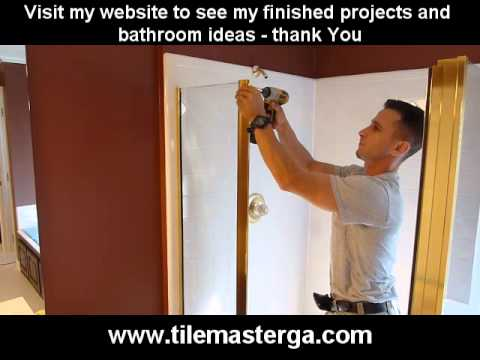 How To Remove Install Shower Door Uninstall Demo Framed