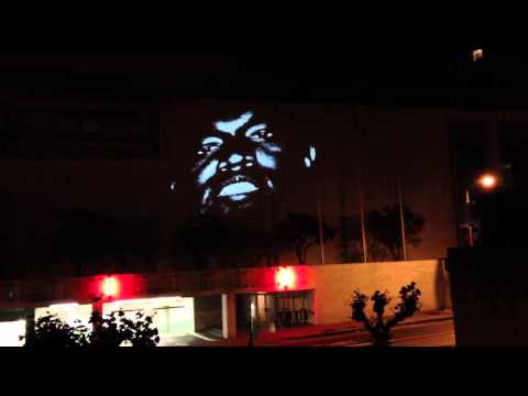 "Kanye West ""New Slaves"" Projection San Francisco (Full)"