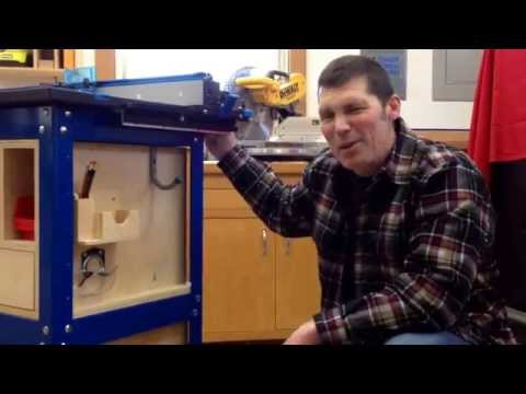 Kreg router table cabinet organization