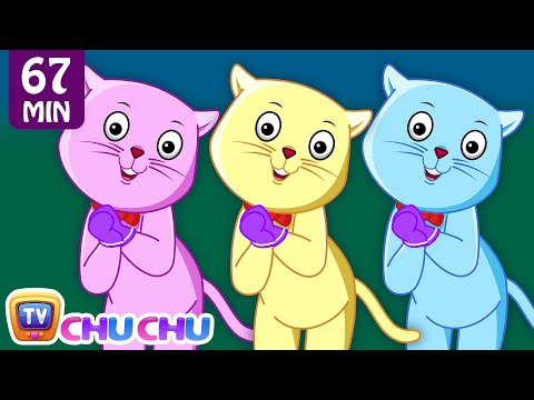 Three Little Kittens and Many More Kitten Cat Songs  Popular Nursery Rhymes Collection  ChuChu TV
