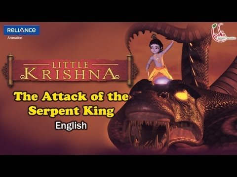 "LITTLE KRISHNA ENGLISH EPISODE 1 ""ATTACK OF SERPENT KING"" ANIMATION SERIES"
