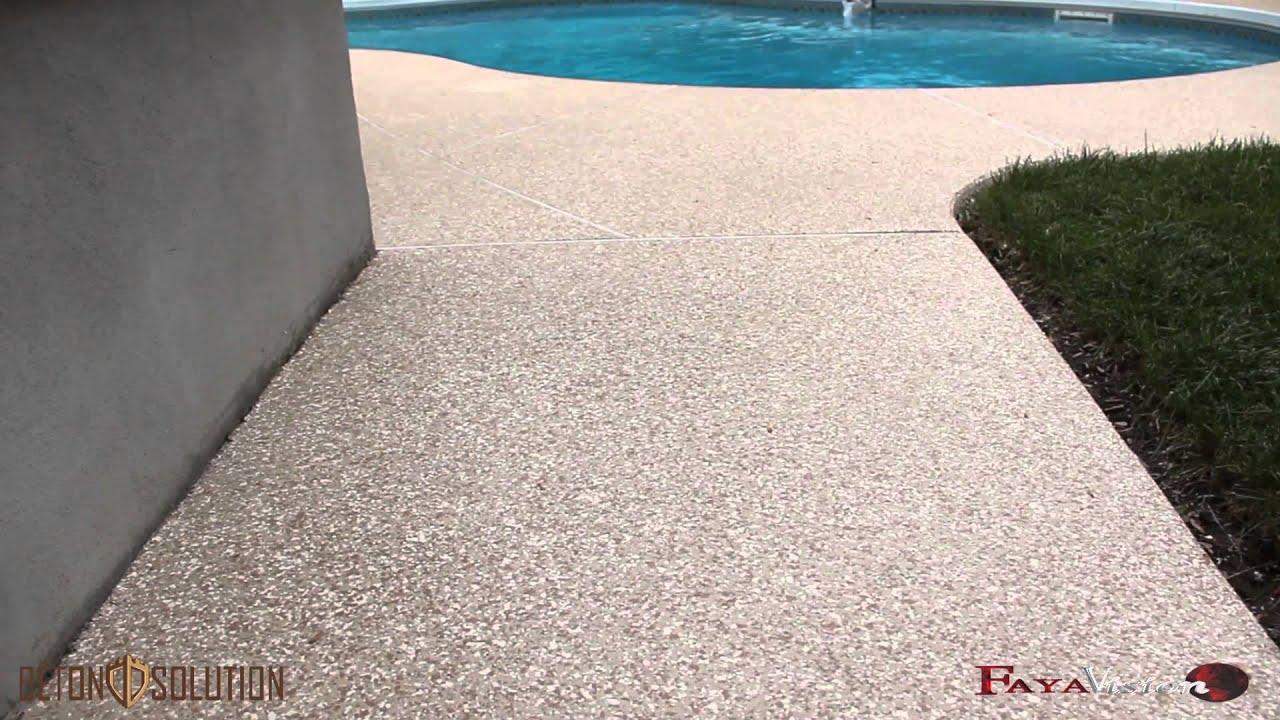 B ton solution marches piscine youtube for Marche piscine beton