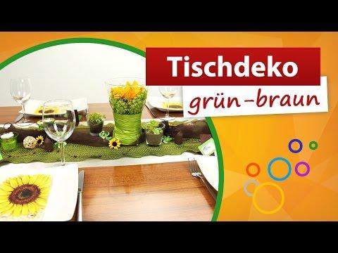 ♥ Tischdeko Grün Braun ♥ Tischdekoration - Trendmarkt24