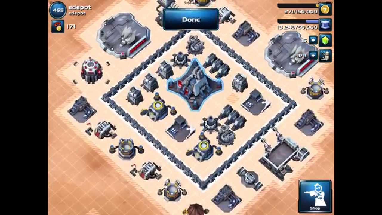 Star wars commander best level 4 hq base layout youtube