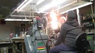 Working the Glass Lathe