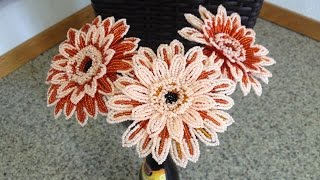 ГЕРБЕРА из БИСЕРА. Tutorial: Beaded Gerbera. МК. Часть 1/3