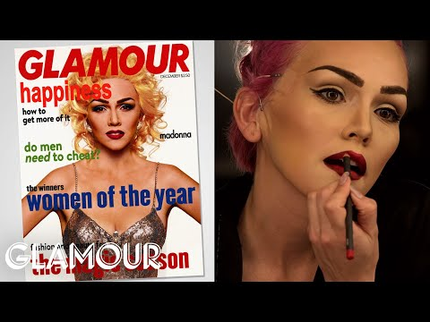 Madonna's Classic Bold Brows--glamour's Beauty Recovered W kandee Johnson--makeup Tips video