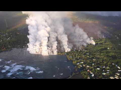 Kilauea 'WINTER Weather' ALERT!  Lava Sparks Weather Advisory on  Big Island as Lava Steams Ocean!
