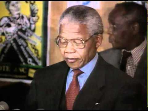 Nelson Mandela celebrating being awarded the Nobel Peace Prize