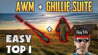 AWM SUPPRESSED + GHILLIE SUITE - SHROUD wins SOLO FPP [31 March] - PUBG HIGHLIGHTS TOP 1 #81