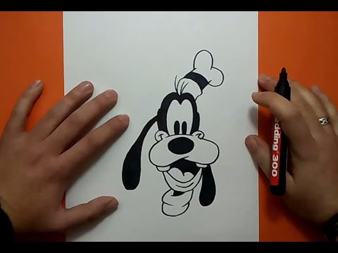 Como dibujar a Goofy paso a paso 2 Disney How to draw Goofy 2 Disney