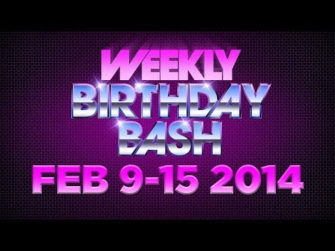 Celebrity Actor Birthdays - February 9-15, 2014 HD