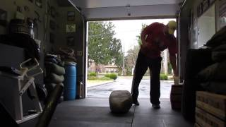 Stone Lifting Workout - 345 Pound Natural Stone Workout - Dave Lemanczyk (True-Time)