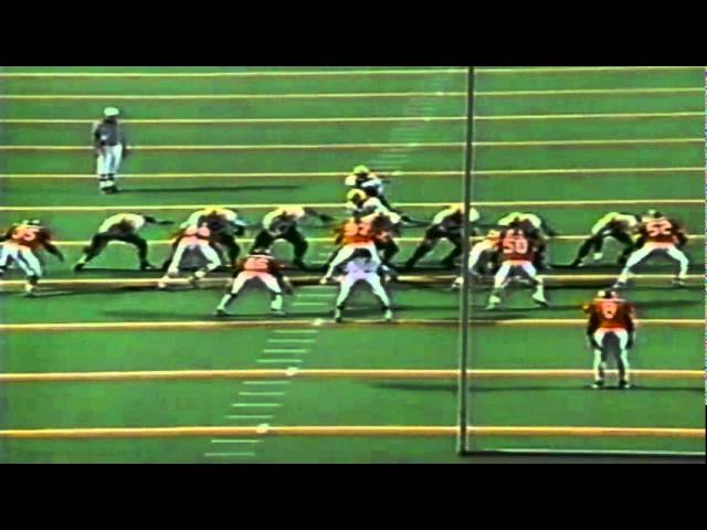 Oregon WR Damon Griffin 11 yard gain on WR screen vs. UTEP 9-12-98