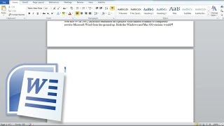 How to delete a Blank Page and a Page with Content in Word