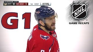 Pittsburgh Penguins vs Washington Capitals. 2018 NHL Playoffs. Round 2. Game 1. 04.26.2018. (HD)