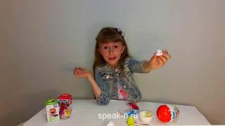 Пластиковое яйцо Angry Birds  Английский с Николеттой  Видео для детей  Nicoletta  Plastic egg