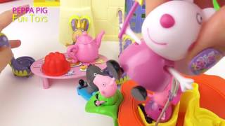 Peppa Pig Tea Party with Fairy Friends in Castle   Peppa Pig Toys Video