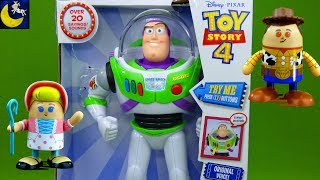 Toy Story 4 Toys Unboxing Buzz Lightyear Disney Store Woody Bo Peep Shufflerz  New Toy Review Videos