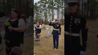 21 gun salute and taps, Marine's home going celebration