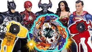 Beyblade Burst Turbo B-122 Geist Fafnir! Justice League Super-man, Batman! Go! #DuDuPopTOY