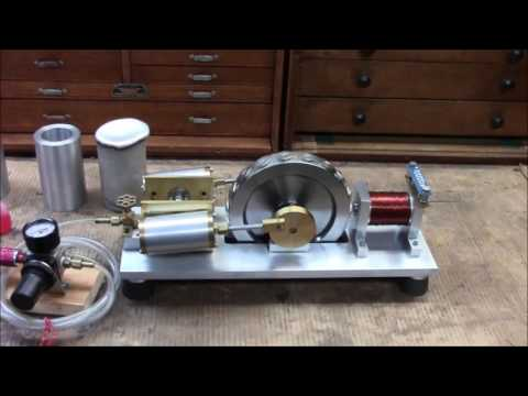 Model Two Cylinder Steam Engine with Electric Generator