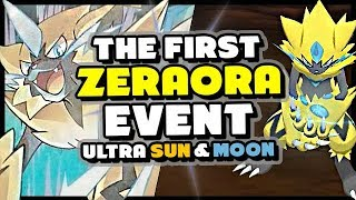 THE FIRST ZERAORA EVENT REVEALED - New Japanese Pokemon Event - Ultra Sun and Moon