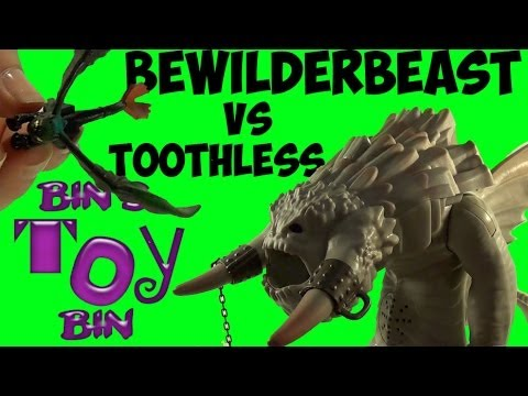 Toothless Battles the BEWILDERBEAST! How To Train Your Dragon 2 Toy Review! by Bin's Toy Bin