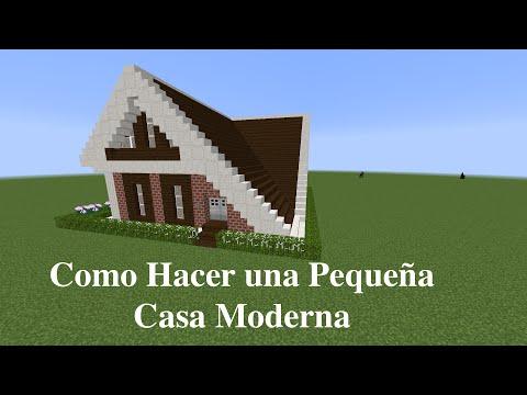 Como hacer una linda casa moderna en minecraft pt1 for Como disenar una casa moderna
