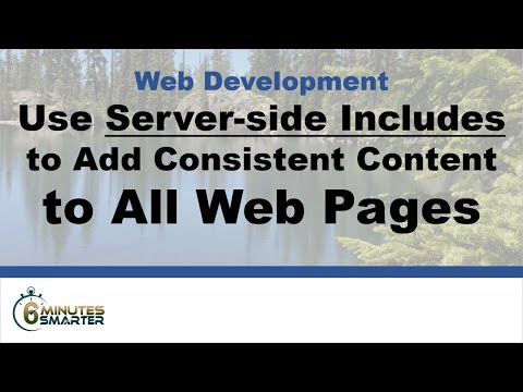 Use PHP Includes to Add Content to Web Pages