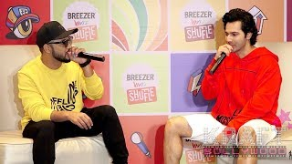 Varun Dhawan & Raftaar Full On RAP Singing | Breezer Vivid Shuffle