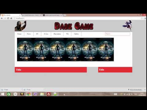 Create Website HTML 5 , CSS3 , PHP (E.Commerce)