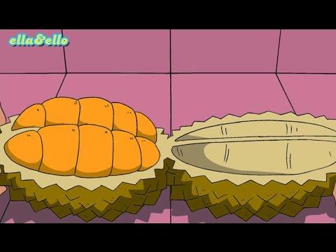 download lagu Ella Ello : Kutahu Nama Buah - Durian, Nanas, Salak | Puri Animation Channel