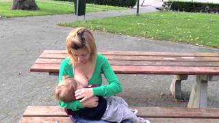 Breastfeeding at the park