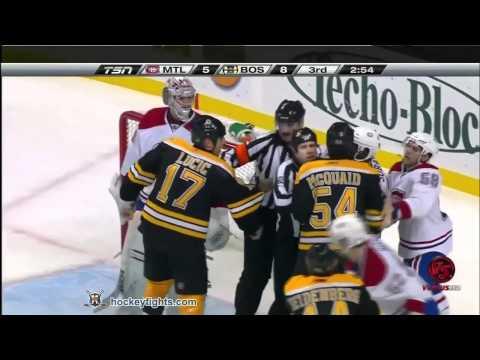 Montreal Canadiens vs Boston Bruins Feb 9, 2011 HD