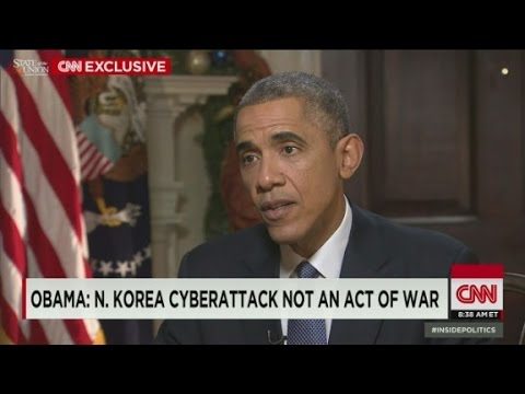 OBAMA: N. Korea cyberattack not an act of war