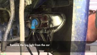Peugot 406 Front Bumper, Headlight and Wing Removal