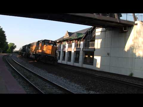 CSX and Norfolk Southern Train Action Lafayette, IN [HD]