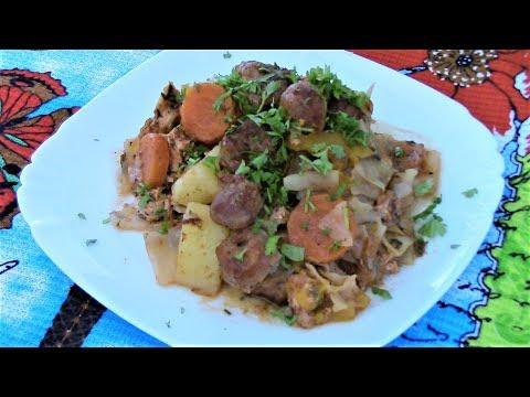 Вкуснейшее овощное рагу с мясом из духовки  в рукаве и без всякой возни.