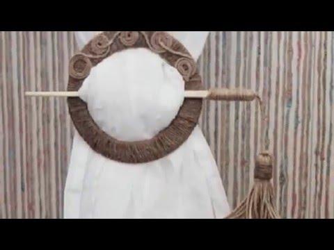 Как сделать держатель для штор своими руками