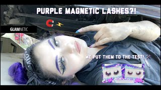 Female Car Mechanic tries Magnetic Eyelashes for the First time! GLAMNETIC FULL TUTORIAL IN MY TRUCK
